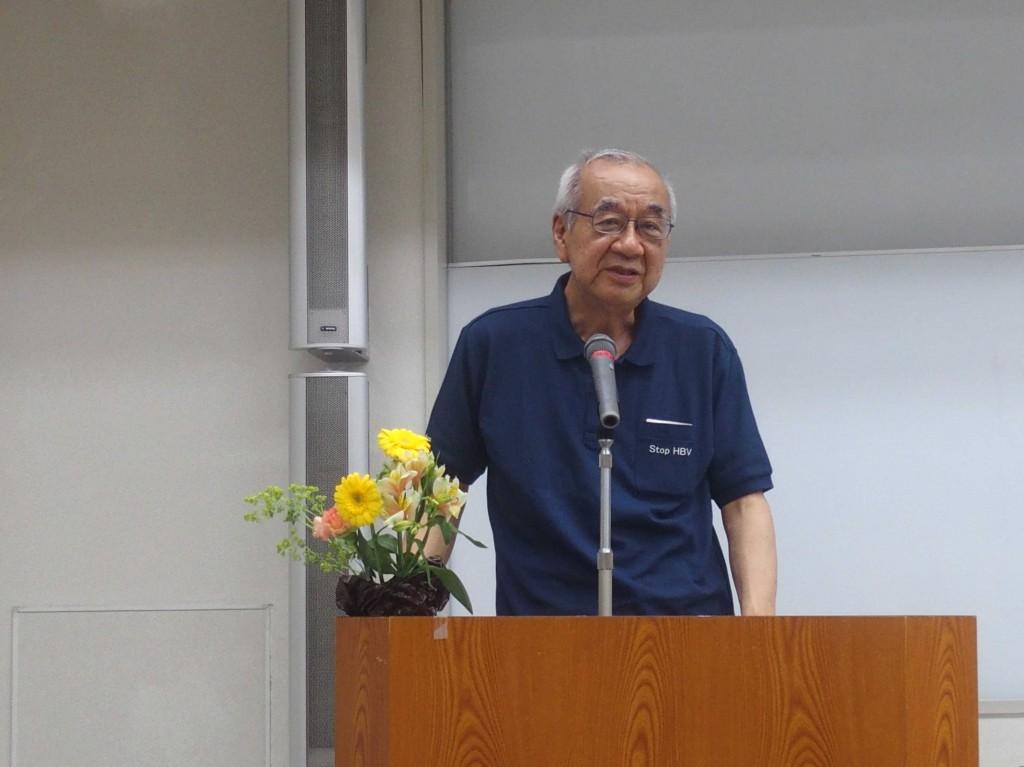 挨拶をしている藤澤理事長